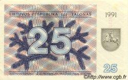 25 Talonas LITUANIE  1991 P.36b SPL