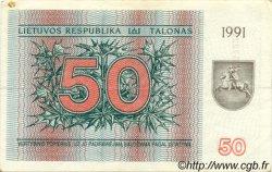 50 Talonas LITUANIE  1991 P.37b TTB+