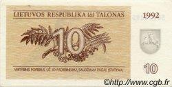 10 Talonas LITUANIE  1992 P.40 SUP