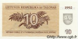 10 Talonas LITUANIE  1992 P.40 NEUF