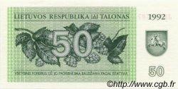 50 Talonas LITUANIE  1992 P.41 NEUF