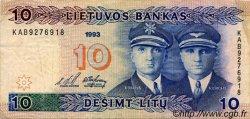 10 Litu LITUANIE  1993 P.56a TB+