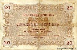 20 Perpera MONTENEGRO  1914 P.19 TB+
