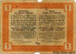 1 Perper MONTENEGRO  1917 P.M.148 B+
