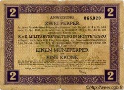 2 Perpera MONTENEGRO  1917 P.M.149 B