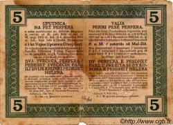 5 Perpera MONTENEGRO  1917 P.M.150 B