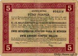 5 Perpera MONTENEGRO  1917 P.M.150 TB