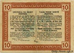 10 Perpera MONTENEGRO  1917 P.M.151 TTB+
