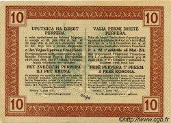 10 Perpera MONTENEGRO  1917 P.M.151 pr.SPL