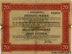 20 Perpera MONTENEGRO  1917 P.M.152 pr.TB