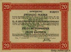 20 Perpera MONTENEGRO  1917 P.M.152 SPL