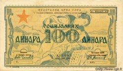 100 Dinara MONTENEGRO  1945 PS.102 SUP