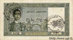 10 Dinara MONTENEGRO  1941 P.R10 pr.TTB