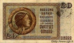 20 Dinara MONTENEGRO  1941 P.R11 pr.TTB