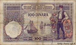 100 Dinara MONTENEGRO  1941 P.R13A B+