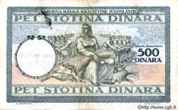 500 Dinara MONTENEGRO  1941 P.R14 TB+