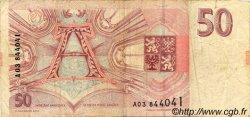 50 Korun RÉPUBLIQUE TCHÈQUE  1993 P.04a TB