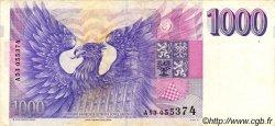 1000 Korun RÉPUBLIQUE TCHÈQUE  1993 P.08a TTB+