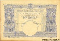 10 Dinara SERBIE  1887 P.09 SUP+