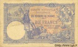 10 Dinara SERBIE  1893 P.10a pr.TTB