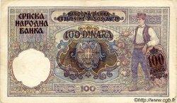 100 Dinara SERBIE  1941 P.23 TTB+