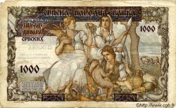 1000 Dinara SERBIE  1941 P.24 B à TB
