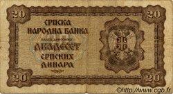 20 Dinara SERBIE  1941 P.25 TB