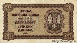 20 Dinara SERBIE  1941 P.25 pr.TTB