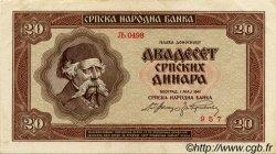 20 Dinara SERBIE  1941 P.25 SUP
