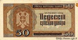 50 Dinara SERBIE  1942 P.29 TTB