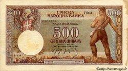 500 Dinara SERBIE  1942 P.31 pr.TTB