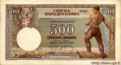 500 Dinara SERBIE  1942 P.31 TTB+