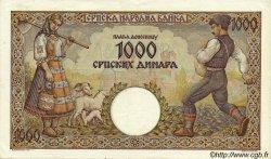 1000 Dinara SERBIE  1942 P.32a SUP