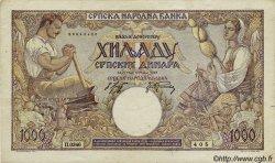 1000 Dinara SERBIE  1942 P.32b TTB