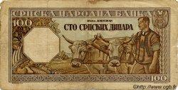 100 Dinara SERBIE  1943 P.33 pr.TB