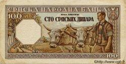 100 Dinara SERBIE  1943 P.33 TTB