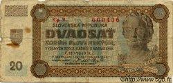20 Korun SLOVAQUIE  1942 P.07a B