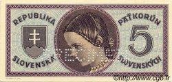 5 Korun SLOVAQUIE  1945 P.08s pr.NEUF