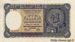 100 Korun SLOVAQUIE  1940 P.10s SUP+