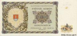 5000 Korun SLOVAQUIE  1944 P.14s SUP+