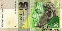 20 Korun SLOVAQUIE  2001 P.20c TTB