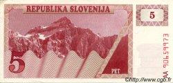 5 Tolarjev SLOVÉNIE  1990 P.03a pr.SUP