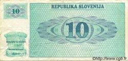 10 Tolarjev SLOVÉNIE  1990 P.04a TB+