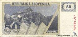 50 Tolarjev SLOVÉNIE  1990 P.05 TB