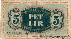5 Lir SLOVÉNIE  1944 PS.111 B+