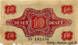 10 Lir SLOVÉNIE  1944 PS.112 B