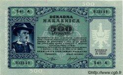 500 Lire SLOVÉNIE  1944 PR.23 NEUF