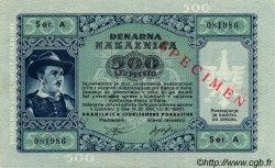 500 Lire SLOVÉNIE Ljubljana 1944 P.R08s SPL