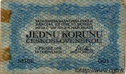 1 Koruna TCHÉCOSLOVAQUIE  1919 P.006a TB