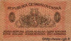 1 Koruna TCHÉCOSLOVAQUIE  1919 P.006a TTB+